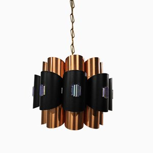 Copper Pendant Light by Werner Schou for Coronell Elektro, 1960s