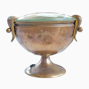 Lámpara de mesa italiana Goblet de latón de Fontana Arte, años 40