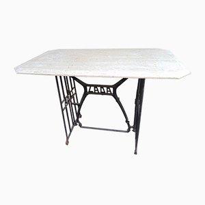 Tisch aus Gusseisen & Stein von LADA, 1940er