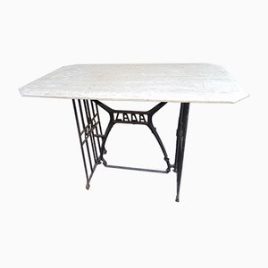 Vintage Cast Iron and Stone Table from LADA