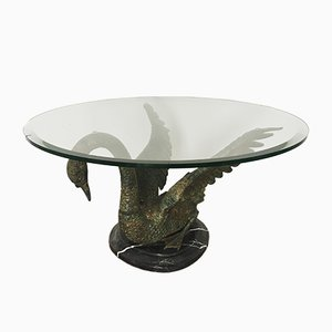 Table Basse Swan Hollywood Regency, Italie, 1960s