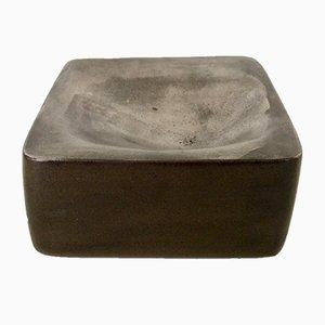 Piatto in ceramica di Annie Palisot, anni '70
