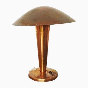 Tschechische Tischlampe aus Kupfer von Josef Hurka für Napako, 1930er