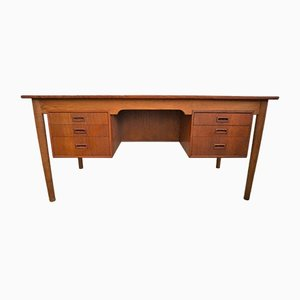Vintage Oak & Teak Desk by Børge Mogensen