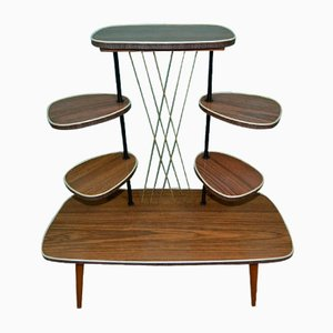 Tavolo decorativo a più ripiani in teak, anni '60
