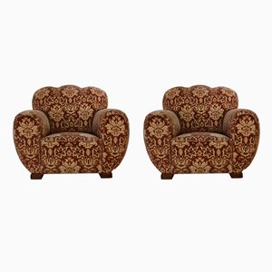 Club Chairs, 1940s, Set of 2