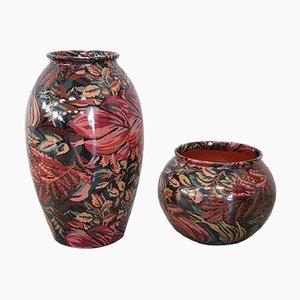 Vaso in ceramica di Michielotto Top Design, anni '80, set di 2