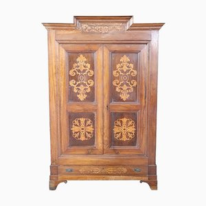 Antique Charles X Era Walnut Wardrobe