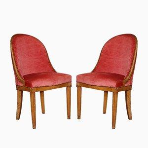Vintage Art Deco Chairs by Dim René Joubert & Philippe Petit, Set of 2