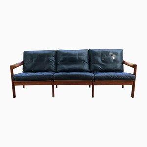 Mid-Century Teak 3-Seater Sofa by Illum Wikkelsø