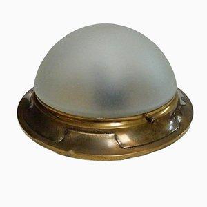 Lampada da soffitto vintage in ottone