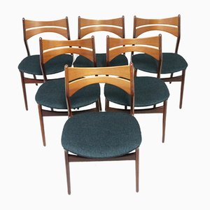 Model 310 Dining Chairs by Erik Buch for Chr. Christiansen, Set of 6