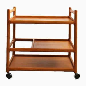Mid-Century Teak Trolley by Johannes Andersen for Dyrlund