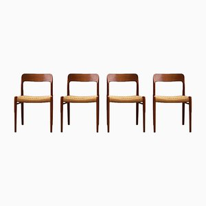 Model 75 Dining Chairs by Niels Otto Møller for J.L. Møllers, Set of 4