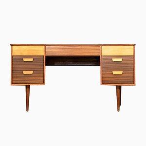 Bureau Concave en Noyer & Hêtre par Gunther Hoffstead pour Uniflex, 1960s