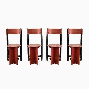Bastille Stühle von Piet Blom für Twente Institute of Technology, 1965, 4er Set