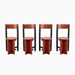 Chaises Bastille par Piet Blom pour Twente Institute de Technology, 1965, Set de 4