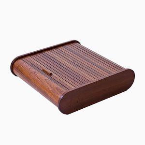 Caja sueca de caoba, años 50