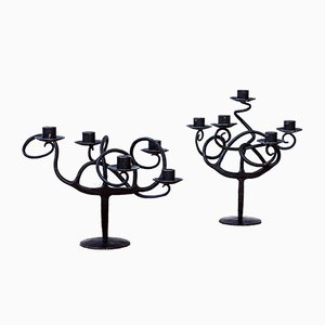 Candelabra by Sven Åke Ekberg, 1980s, Set of 2