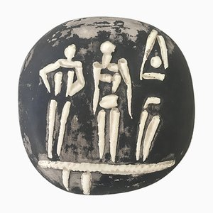 Trois Personnages sur Tremplin Wall Plate by Pablo Picasso for Madoura, 1956