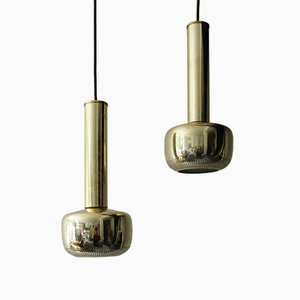 Lampade Guldpendel vintage in ottone di Vilhelm Lauritzen per Louis Poulsen, set di 2