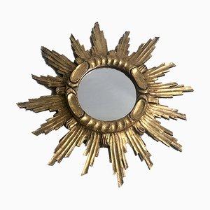 Französischer Spiegel mit vergoldetem Holzrahmen, 1950er