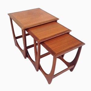 Vintage Astro Nesting Tables par Victor Wilkins pour G-Plan, Set de 3