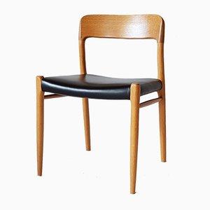 Chaise N°75 Vintage par Niels Møller pour J.L. Møllers