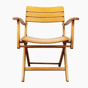 Chaise Pliante Vintage en Hêtre de Herlag