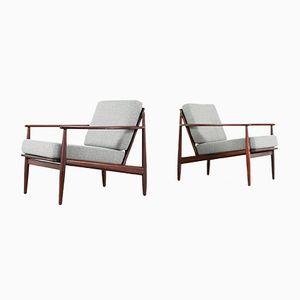 Mid-Century Modern Danish Teak Lounge Chairs, 1960s, Set of 2
