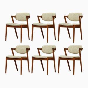 Dänische Esszimmerstühle von Kai Kristiansen, 1960er, 4er Set