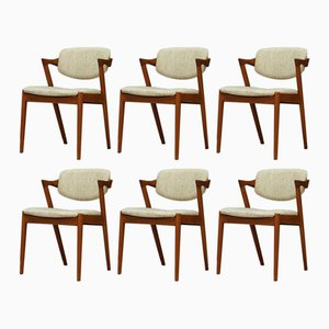 Danish Dining Chairs by Kai Kristiansen, 1960s, Set of 4