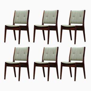 Dänische Esszimmerstühle aus Palisander, 1960er, 6er Set