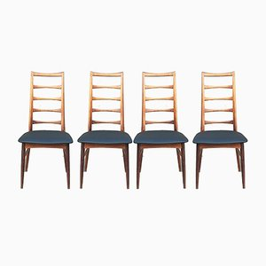 Scandinavian Rosewood Lis Chairs by Niels Koefoeds for Koefoeds Møbelfabrik, 1960s, Set of 4