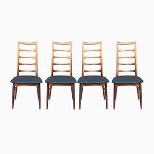 Skandinavische Lis Stühle aus Palisander von Niels Koefoeds für Koefoeds Møbelfabrik, 1960er, 4er Set