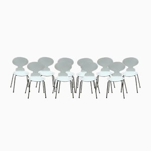 Scandinavian Ant Chairs by Arne Jacobsen for Fritz Hansen, 1979, Set of 10