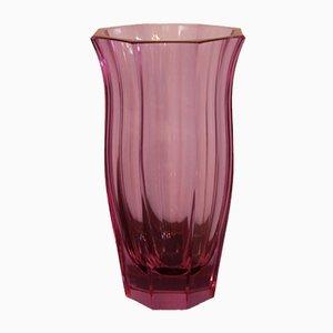 Vase Violet Vintage en Verre Taillé par Moser pour Moser Karlsbad