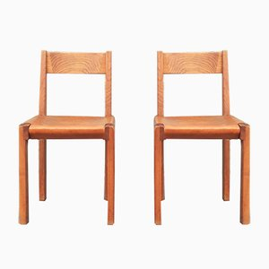 Vintage Model S24 Chairs by Pierre Chapo, 1970s, Set of 2