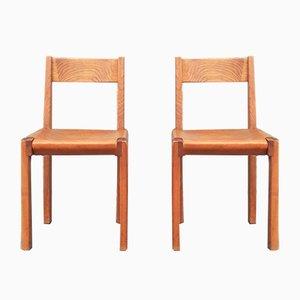 Vintage Modell S24 Stühle von Pierre Chapo, 1970er, 2er Set