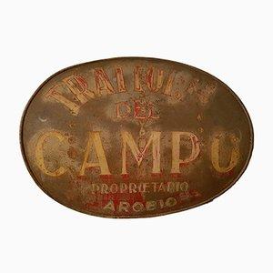 Antikes italienisches Trattoria Schild aus Metall