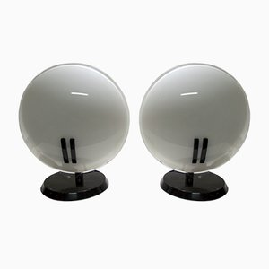 Lampade da tavolo Pearl di Bruno Gecchelin per Oluce, anni '80, set di 2