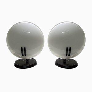 Lámparas de mesa modelo Pearl de Bruno Gecchelin para Oluce, años 80. Juego de 2