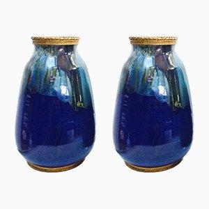 Vases Vintage en Céramique, Set de 2
