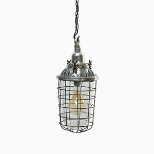 Lámpara colgante Mid-Century con rejilla