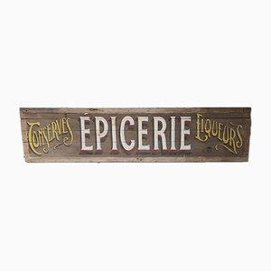 Französisches Vintage Epicerie-Schild