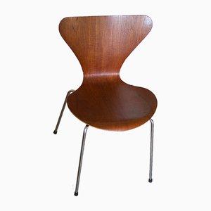 Sedie 3107 serie 7 in teak di Arne Jacobsen per Fritz Hansen, 1966