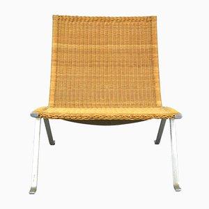 Chaise en Osier Vintage par Poul Kjærholm pour E. Kold Christensen