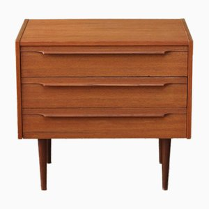 Vintage Teak Bedside Chest of Drawers