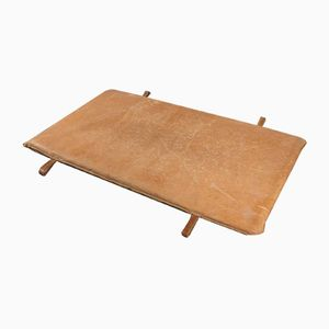 Vintage Tan Leather Gym Mat, 1930s