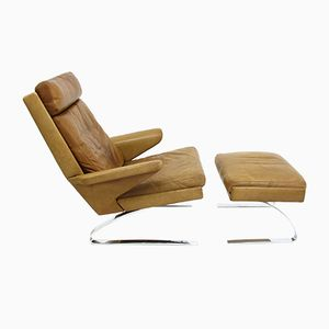 Lounge Chair and Ottoman by Reinhold Adolf & H.J. Schräpher for Cor, 1970s